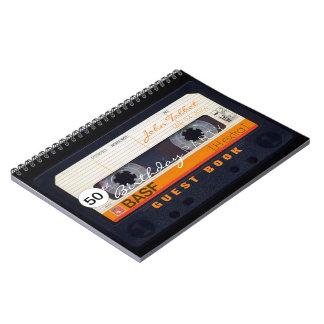 Carnet Cinquantième GuestBook d'anniversaire de rétro