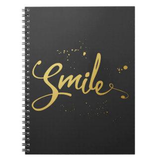 Carnet Citation de sourire d'or