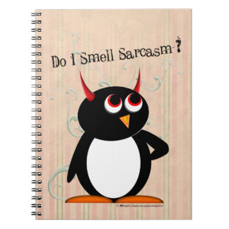 Carnet Classeur drôle mauvais de Penguin™, de nouveau à