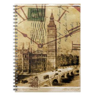 Carnet Clocktower grand Ben de pont de tour de Londres