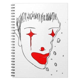 Carnet Clown triste