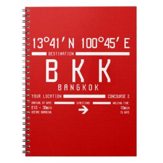 Carnet Code de l'aéroport international BKK l'A.I.T.A de
