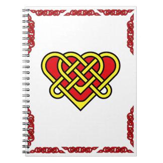 Carnet Coeur celtique avec de l'or tressé celtique de