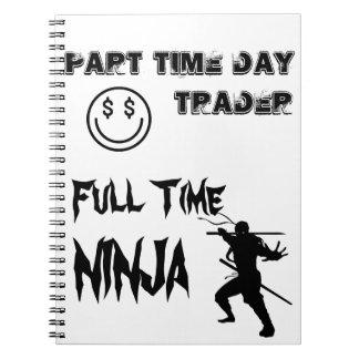 Carnet Commerçant de jour à temps partiel Ninja à plein