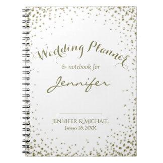 Carnet Confettis d'or de wedding planner