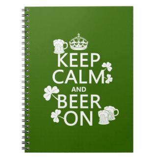 Carnet Conservez le calme et la bière sur (Irlandais)