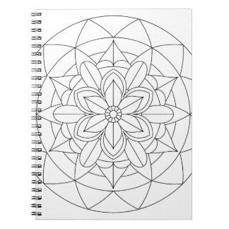 Carnet Couleur-Votre-Propre mandala floral géométrique
