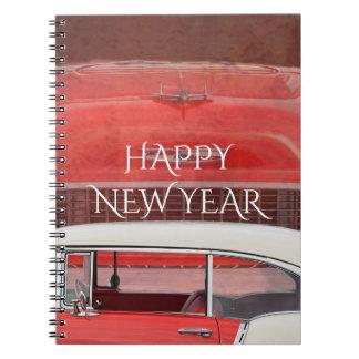 Carnet Cru blanc rouge de Dodge de voitures de Bel Air