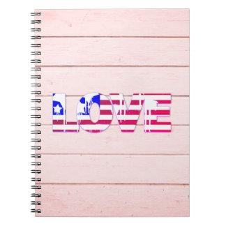 Carnet d'amour de drapeau américain