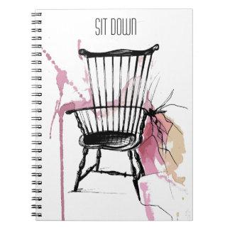 Carnet de chaise de Windsor d'aquarelle