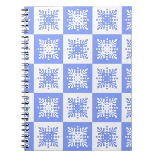 Carnet de conception d'abrégé sur bleu