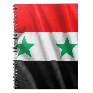 Carnet de drapeau de la Syrie