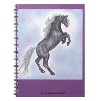 Carnet de élevage gris de cheval