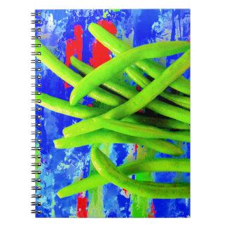 Carnet de jardin d'haricot vert