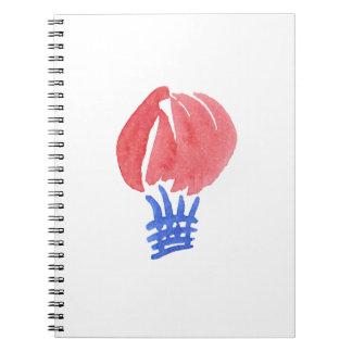 Carnet de notes à spirale de ballon à air