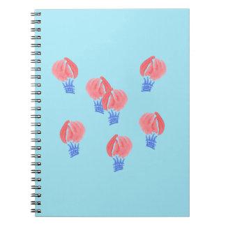 Carnet de notes à spirale de ballons à air