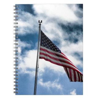 Carnet de notes à spirale de drapeau américain