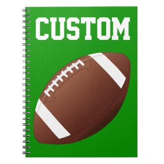 Carnet de notes à spirale de football américain