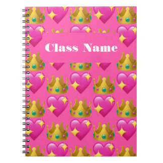 Carnet de notes à spirale de princesse Emoji (80