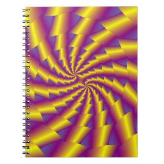 Carnet de notes à spirale de ressort d'or