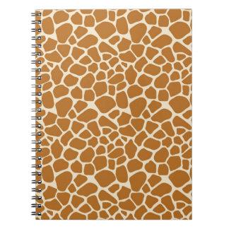 Carnet de notes à spirale d'impression de girafe