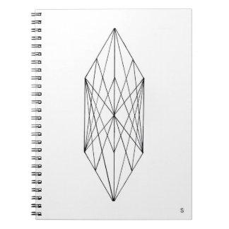 Carnet de notes à spirale en cristal géométrique
