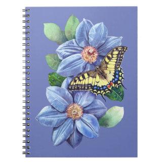 Carnet de papillon d'aquarelle