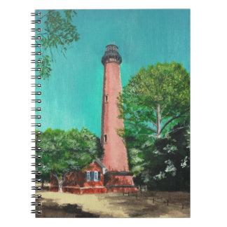 Carnet de photo de phare de plage de Currituck