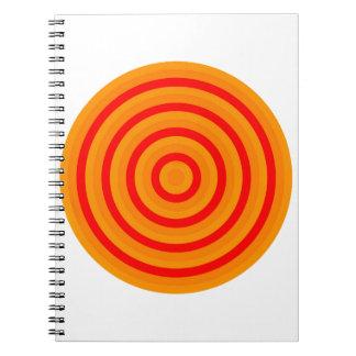 Carnet de photo de spirale de cercle concentrique