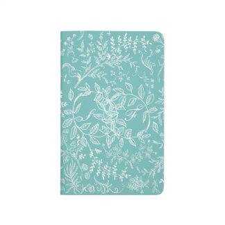 Carnet De Poche Calendrier floral 2015 2016 de motif de fleur
