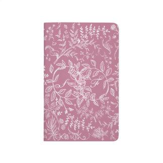 Carnet De Poche Calendrier floral rose 2015 2016 de motif de fleur
