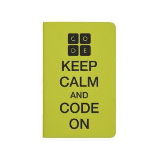 """Carnet De Poche Code.org """"gardent le calme et le code sur """""""