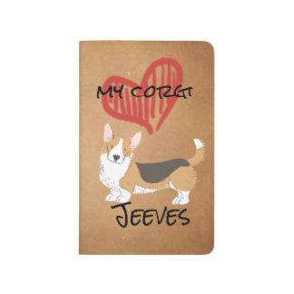 Carnet De Poche Coeur rouge mon corgi de Gallois de cardigan