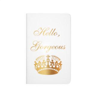 Carnet De Poche Conception girly de luxe chic de citation d'or
