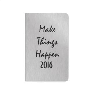 Carnet De Poche De motivation faites les choses se produire 2016