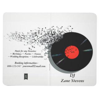 Carnet De Poche Disque vinyle de jockey de disque du DJ de