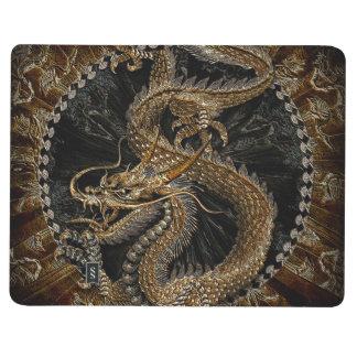 Carnet De Poche Dragon chinois dans Brown texturisé