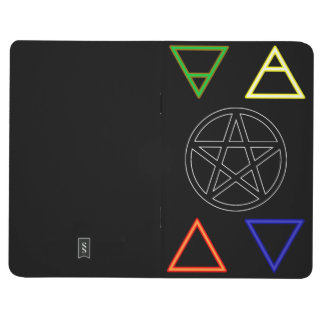 Carnet De Poche Éléments et pentagramme alchimiques