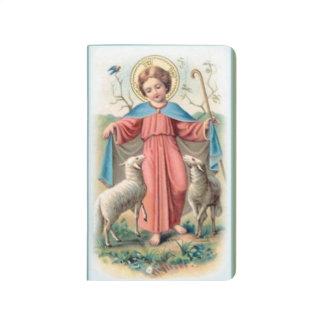 Carnet De Poche Enfant Jésus avec des agneaux