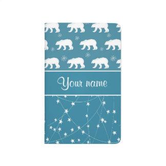 Carnet De Poche Étoiles de scintillement d'ours blancs