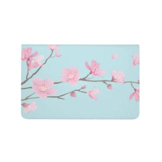 Carnet De Poche Fleurs de cerisier - bleu de ciel