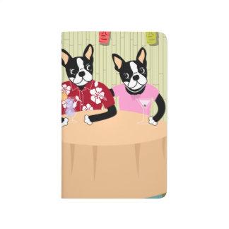 Carnet De Poche Garçon et fille de Boston Terrier