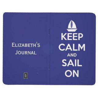 Carnet De Poche Gardez le calme et naviguez sur le bleu nautique