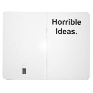 Carnet De Poche Idées horribles (noir sur le blanc)
