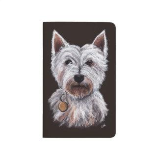 Carnet De Poche Illustration en pastel d'animal familier de chien
