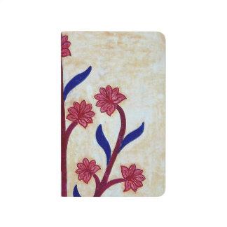 Carnet De Poche Illustration florale au fort ambre (2)