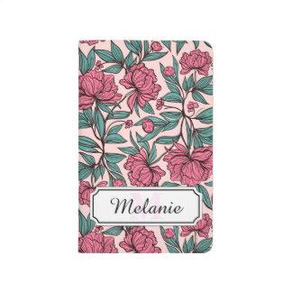 Carnet De Poche Illustration tirée par la main florale de rose