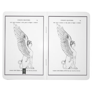 Carnet De Poche Illustration vintage de sphinx