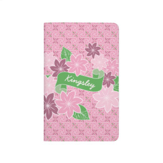 Carnet De Poche Kimono rose du Japon de bannière de vert de
