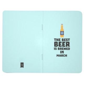 Carnet De Poche La meilleure bière est en mars Zp9fl brassé